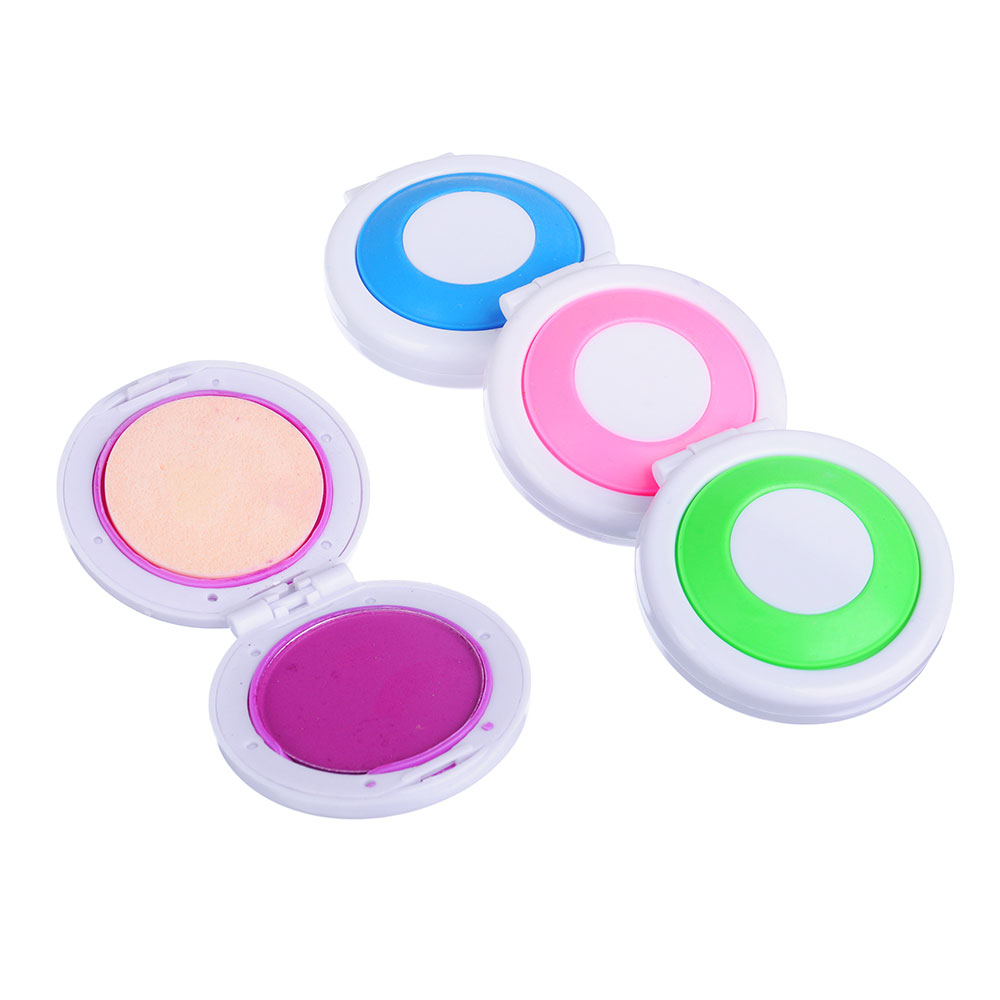 Набор мелков для окрашивания волос 4шт., круглые, 4 цвета
