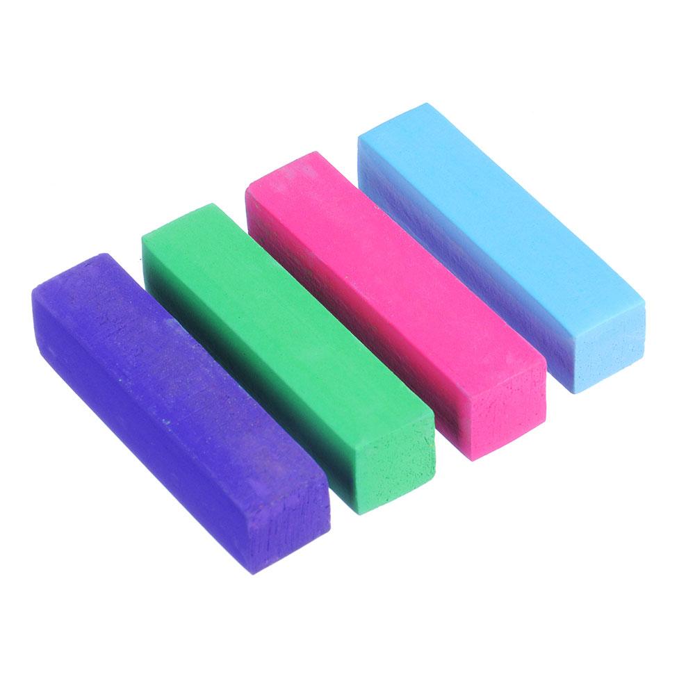 Набор мелков для окрашивания волос 4шт., прямоугольные, 4 цвета
