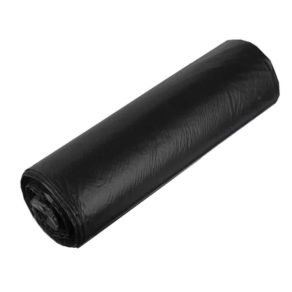Мешки для мусора 160л, ПВД 25мкм, черные, 10 шт в рулоне, 101-031