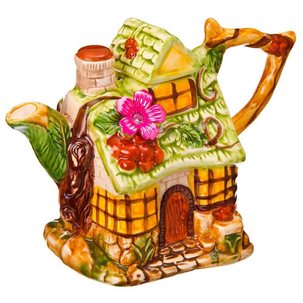 "Домики Чайник заварочный, керамика, 600мл, ""Летний домик"""