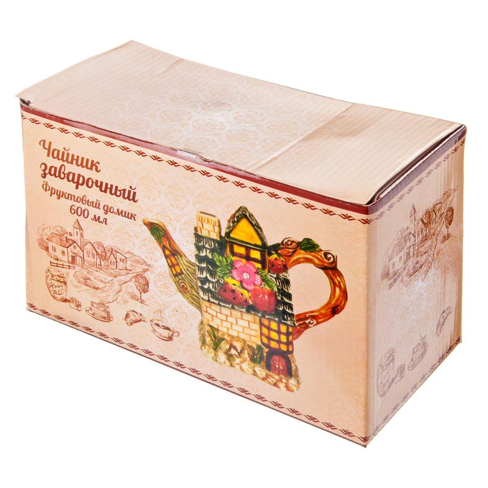 """Домики Чайник заварочный, керамика, 600мл, """"Фруктовый домик"""""""