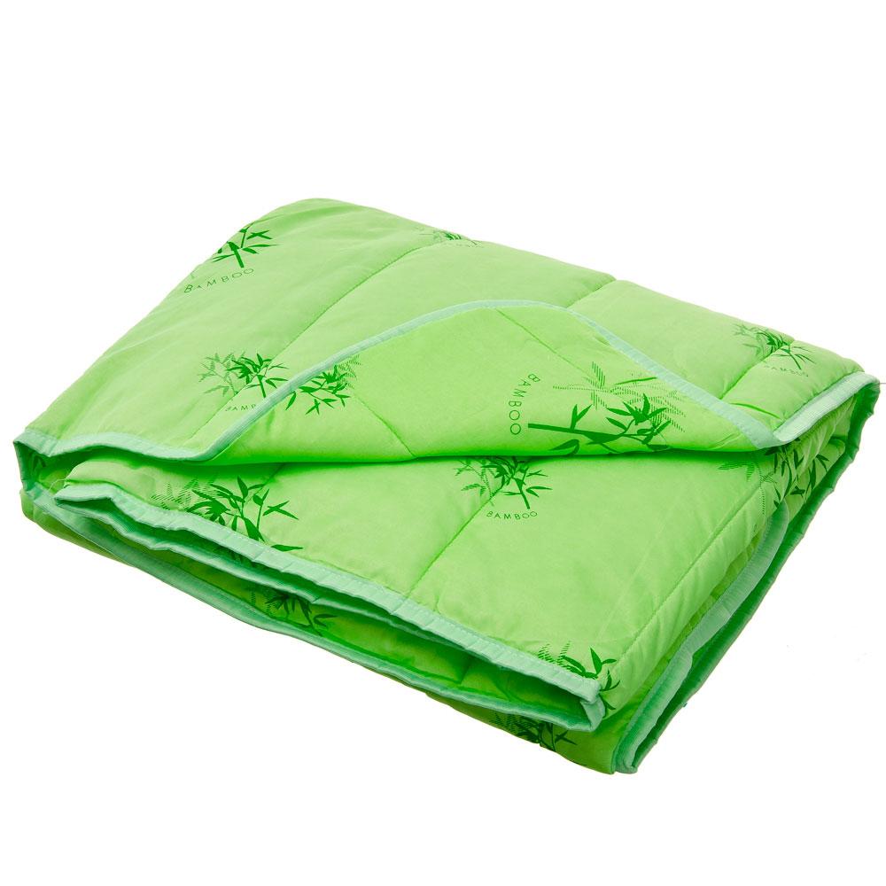 Одеяло Бамбук стеганое, облегченное 150гр/м.кв, полиэстер, 140х205см