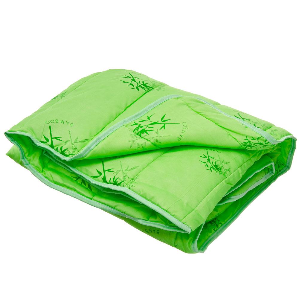 Одеяло Бамбук стеганое, облегченное 150гр/м.кв, полиэстер, 172х205см