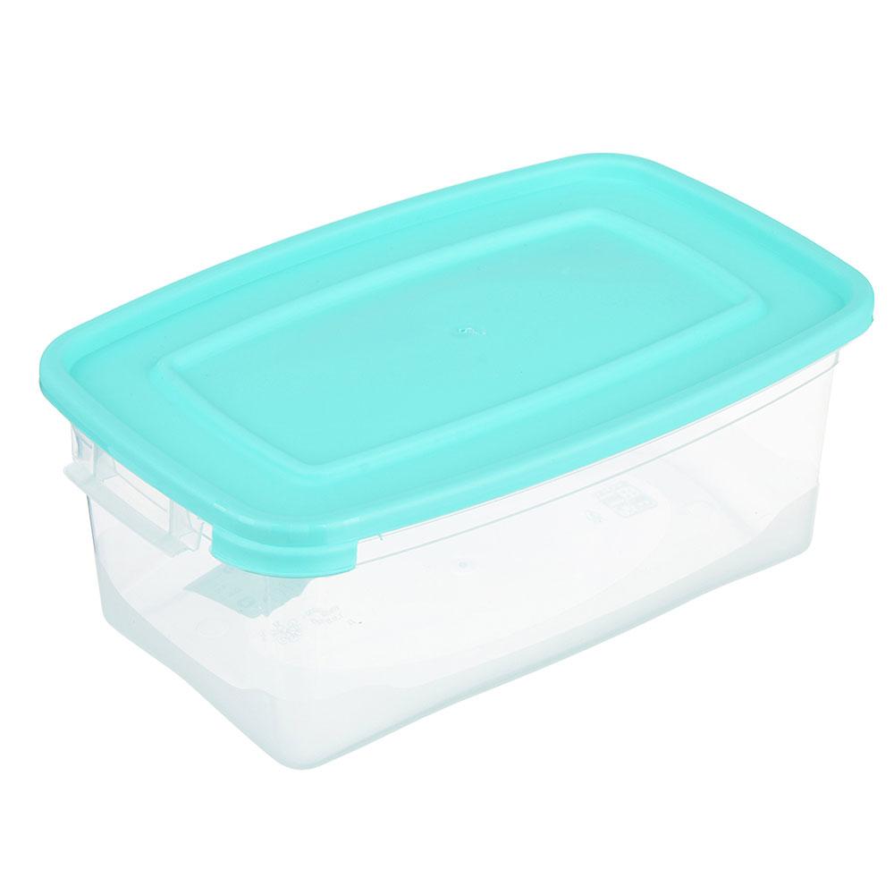Контейнер пищевой прямоугольный 1 л, пластик, Каскад Полимербыт
