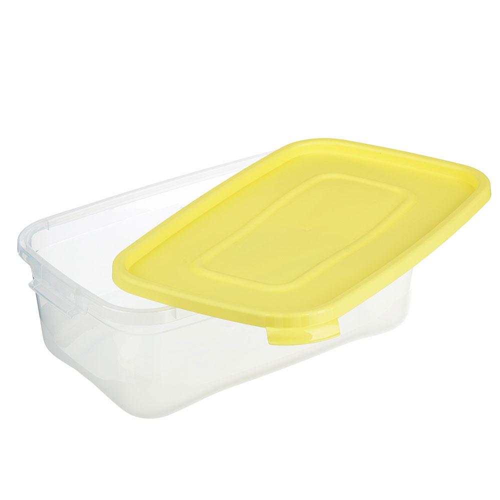 Контейнер пищевой прямоугольный 2 л, пластик, Каскад Полимербыт