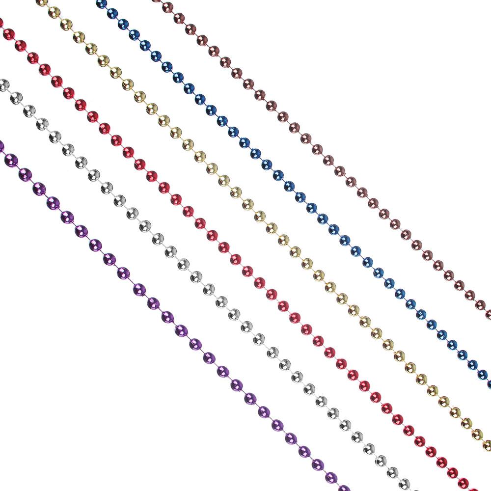 Бусы декоративные СНОУ БУМ 270 см, мелкие d0,73 см, пластик, цвет VG2