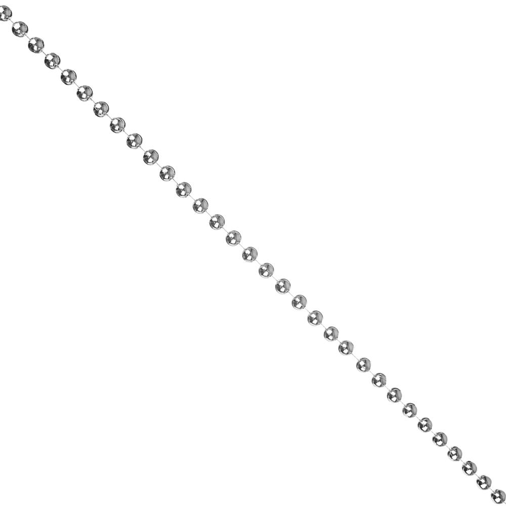 Бусы декоративные СНОУ БУМ 200 см, крупные d1,2 см, пластик, цвет золотой