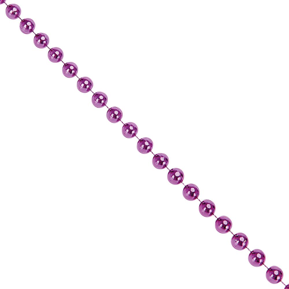 СНОУ БУМ Бусы декоративные, 200см, крупные d1,2см, пластик, цвет фиолет