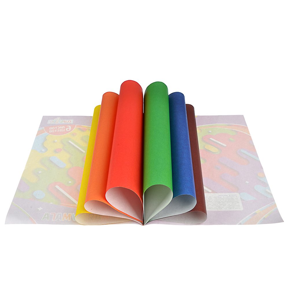 Набор цветной бумаги 6 листов ClipStudio, 6цветов