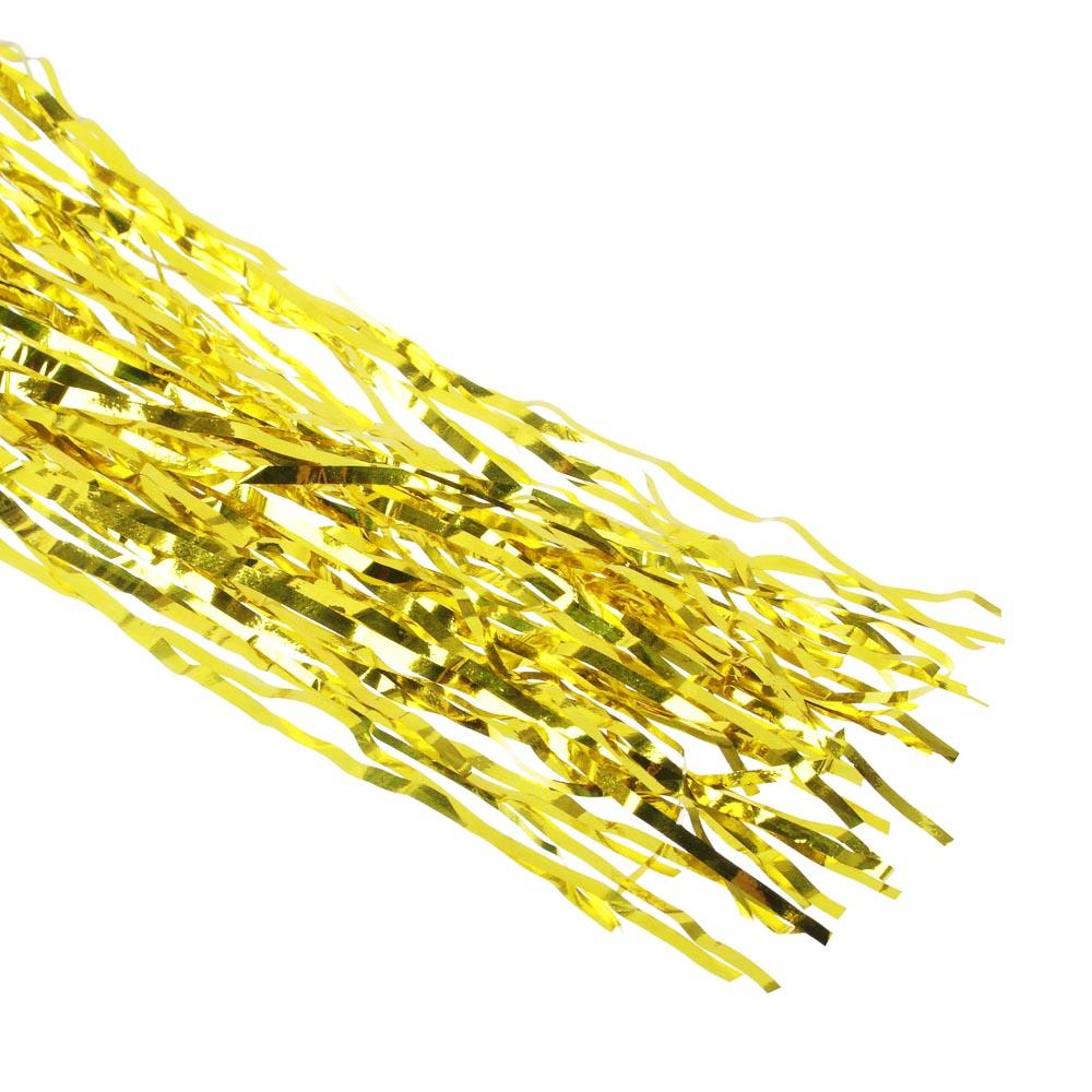 Дождик СНОУ БУМ 100х9см, ПВХ, 2 цвета, золото и серебро, арт.10-02