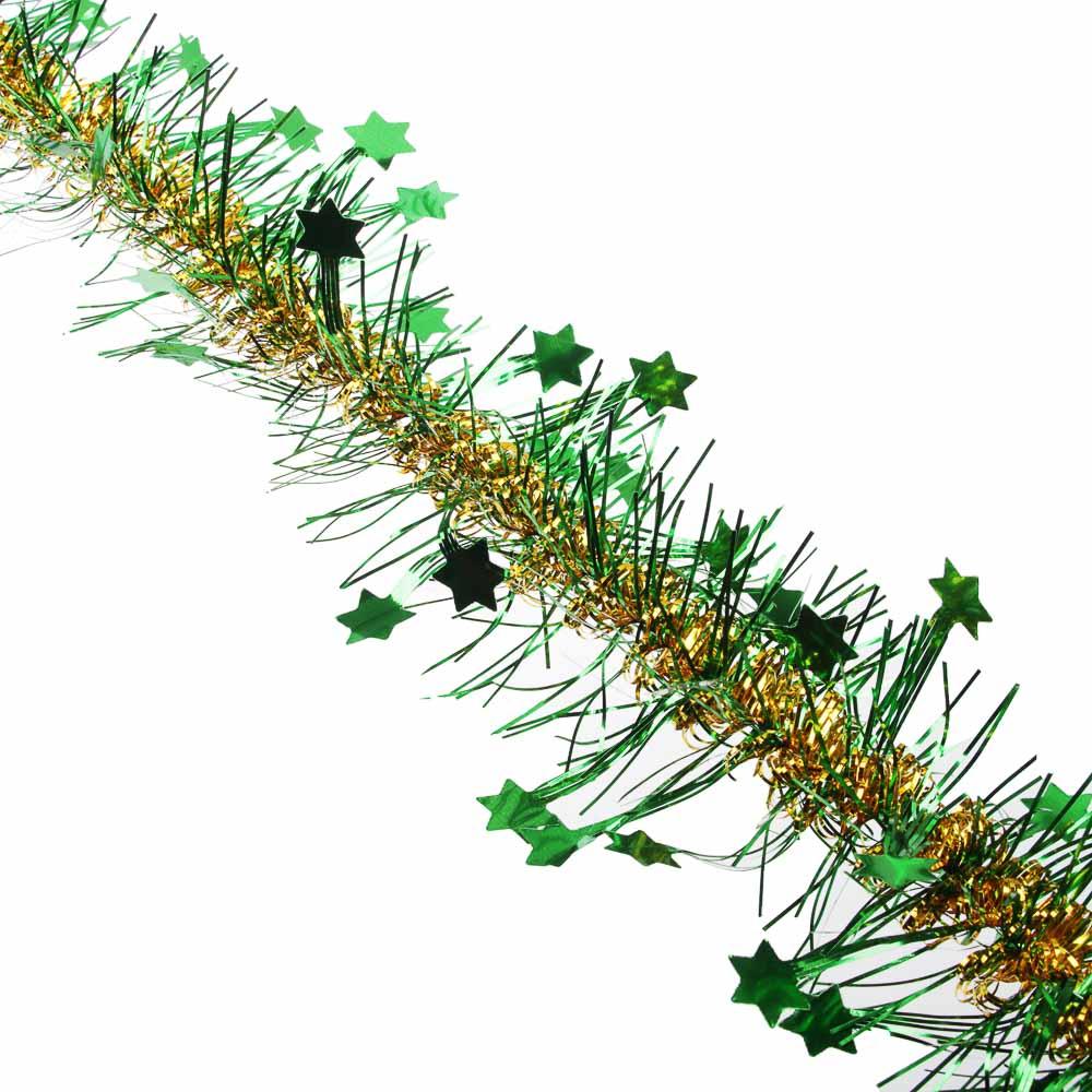 СНОУ БУМ Мишура 200х6см, ПВХ, со звездами, 6 цветов