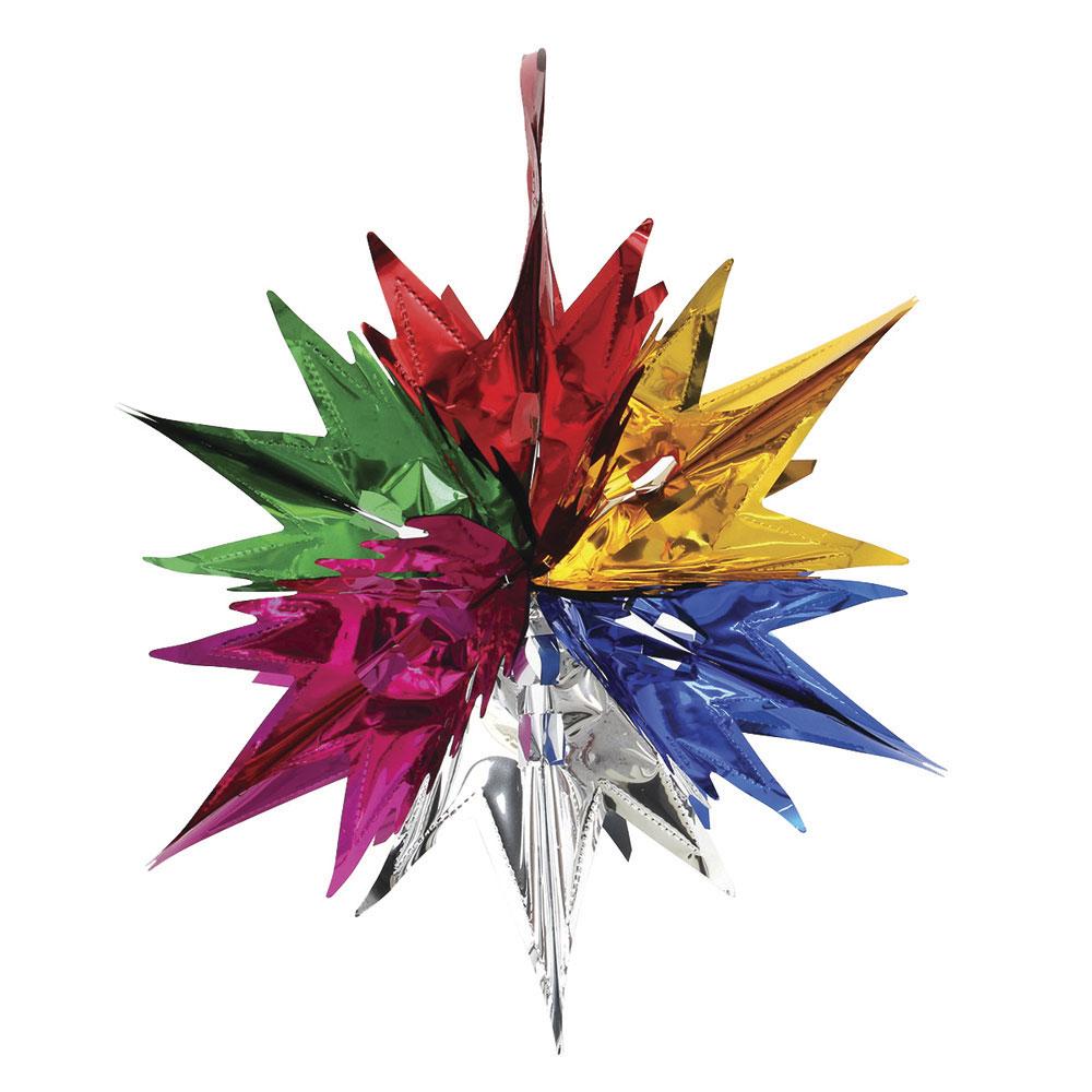 Гирлянда-подвеска СНОУ БУМ 33х30см, ПВХ, в виде Звезды, 6 цветов