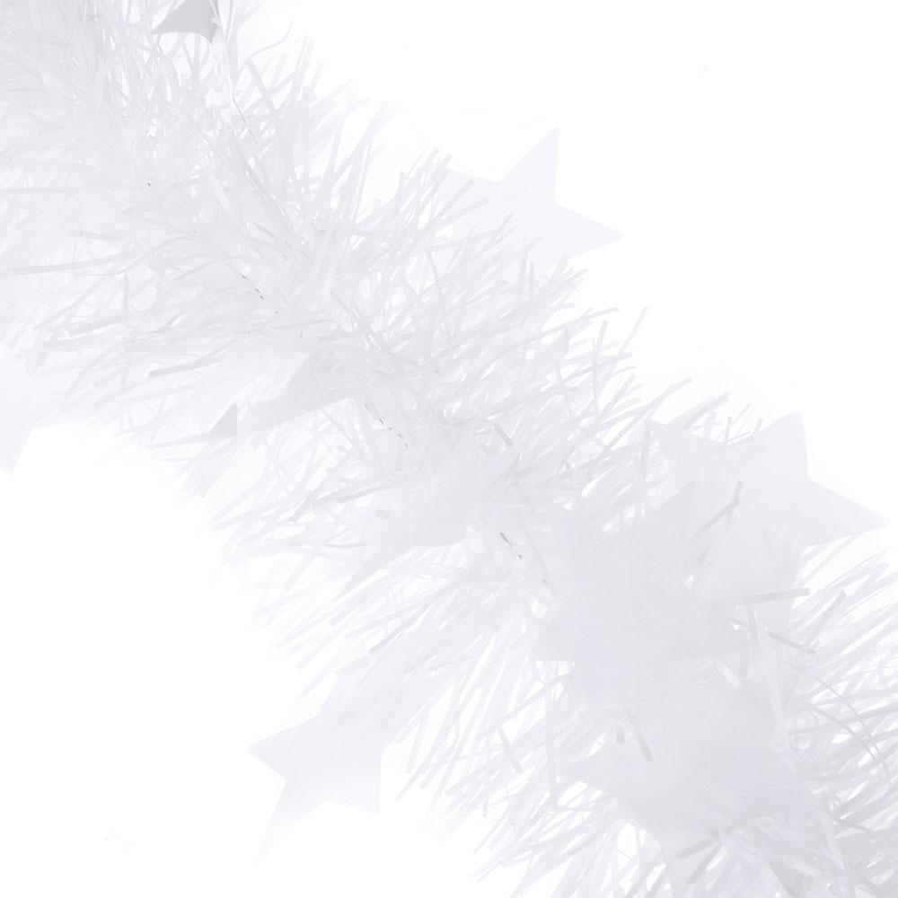 СНОУ БУМ Мишура 200х8см, ПВХ, белая со звездами, арт.2202