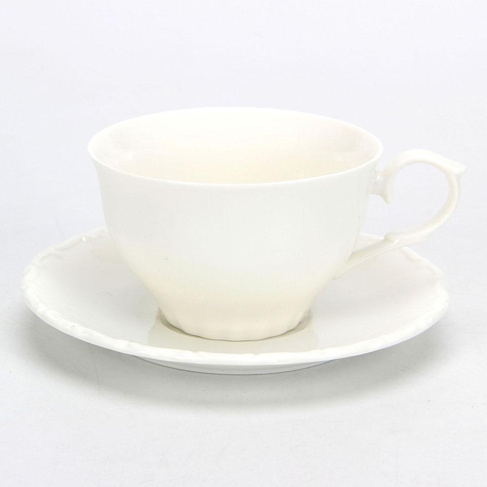 """Набор кофейный 2пр (чашка 250мл, блюдце 14,5см) """"Элегия"""", керамика"""