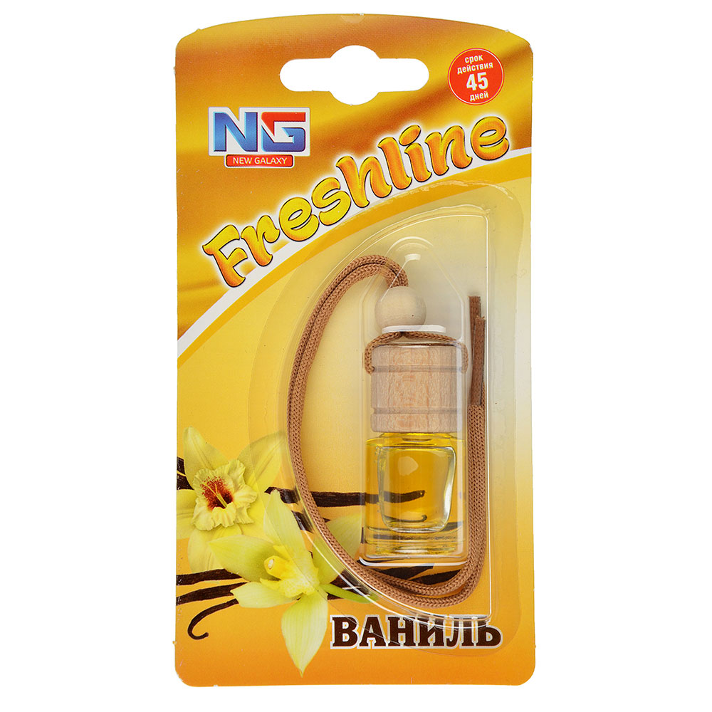 "Ароматизатор в машину подвесной, аромат ваниль, ""Freshline"" NEW GALAXY"