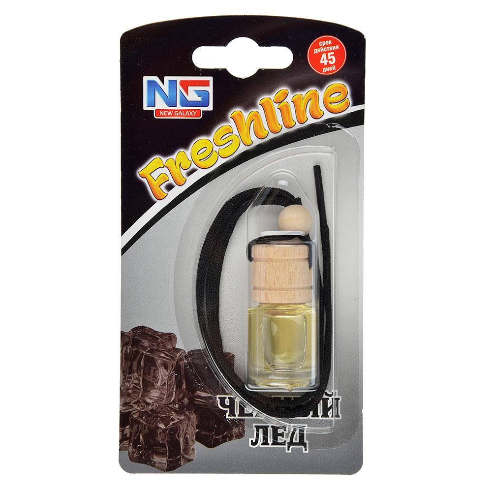 """Ароматизатор в машину подвесной, аромат черный лед, """"Freshline"""" NEW GALAXY"""