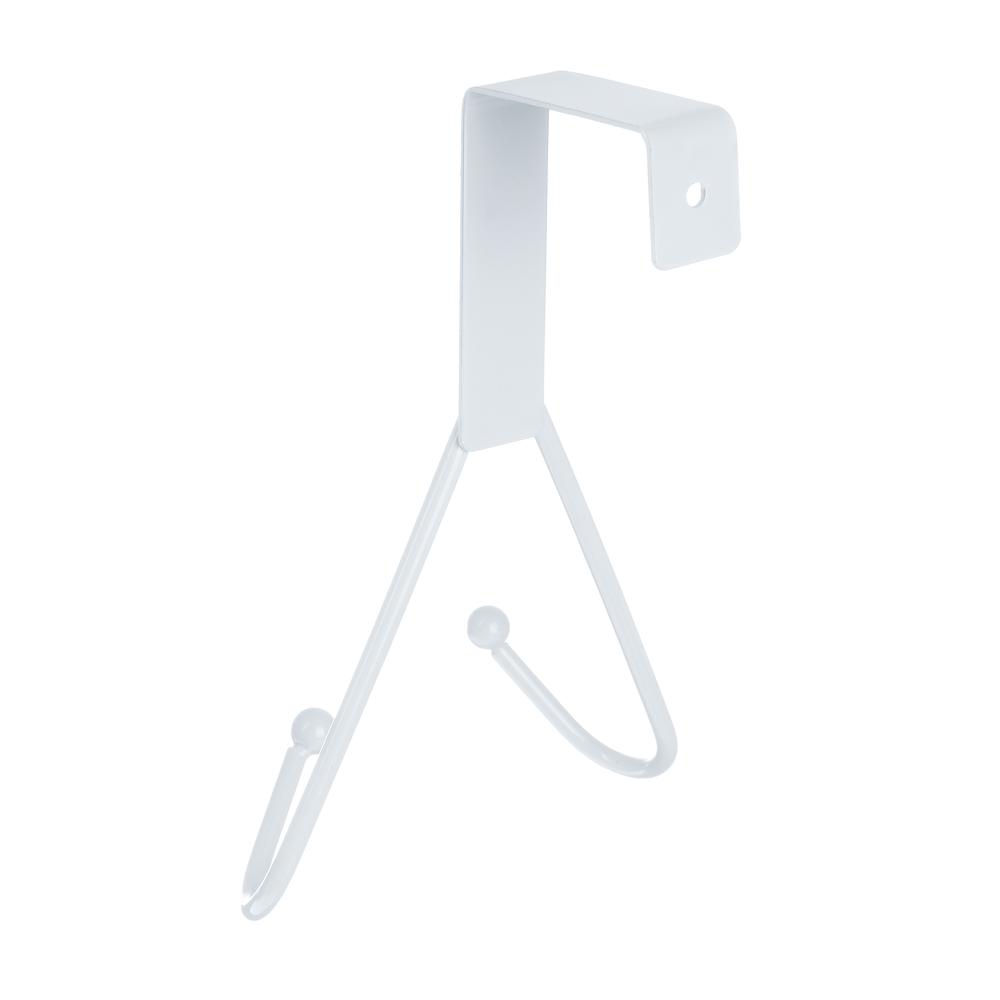 Вешалка надверная, 2 крючка, металл, 12х15х5см, 3 цвета