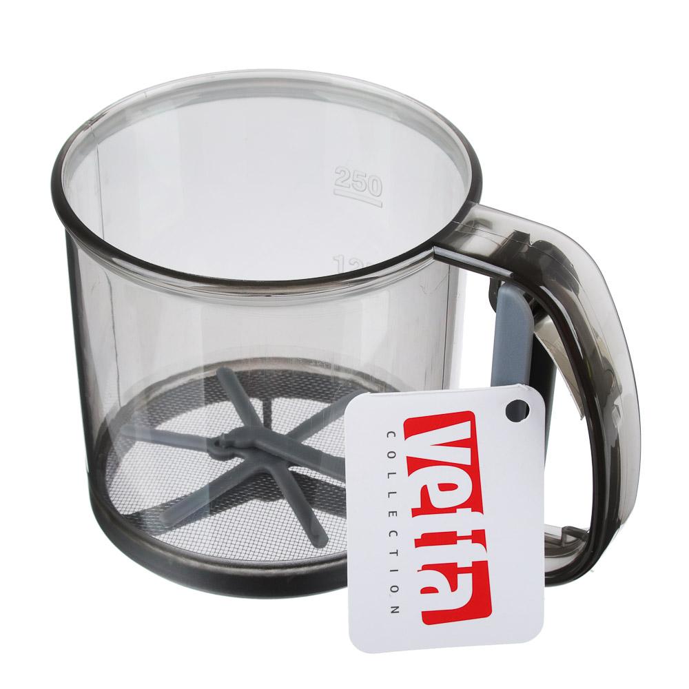 Кружка-сито для муки, пластик, VETTA