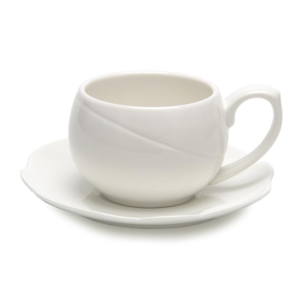 """Набор кофейный 2пр (чашка 250мл, блюдце 14,5см) """"Элегия-1"""""""