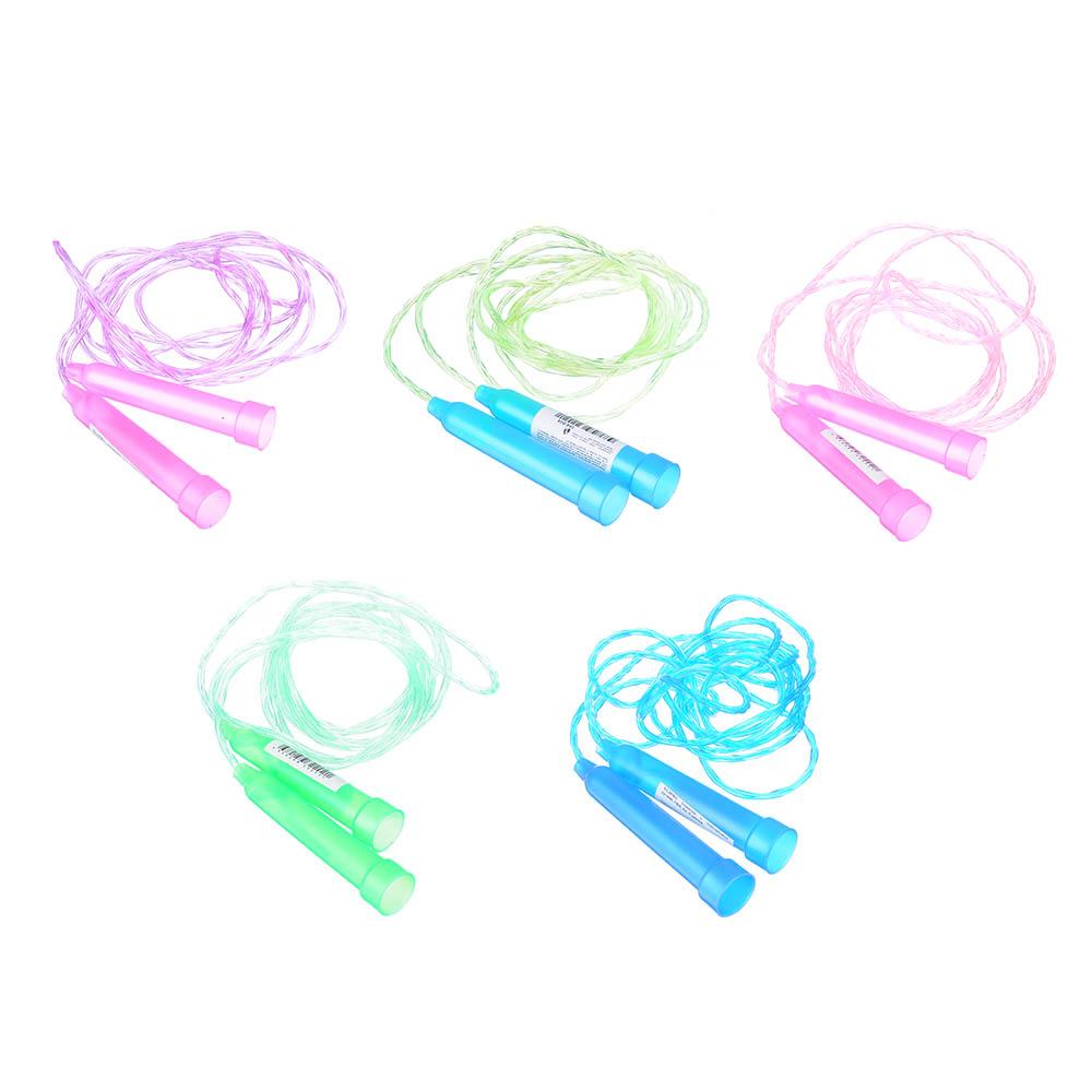 Скакалка с пластиковой ручкой, ПВХ, 2 м, 5 цветов, SILAPRO