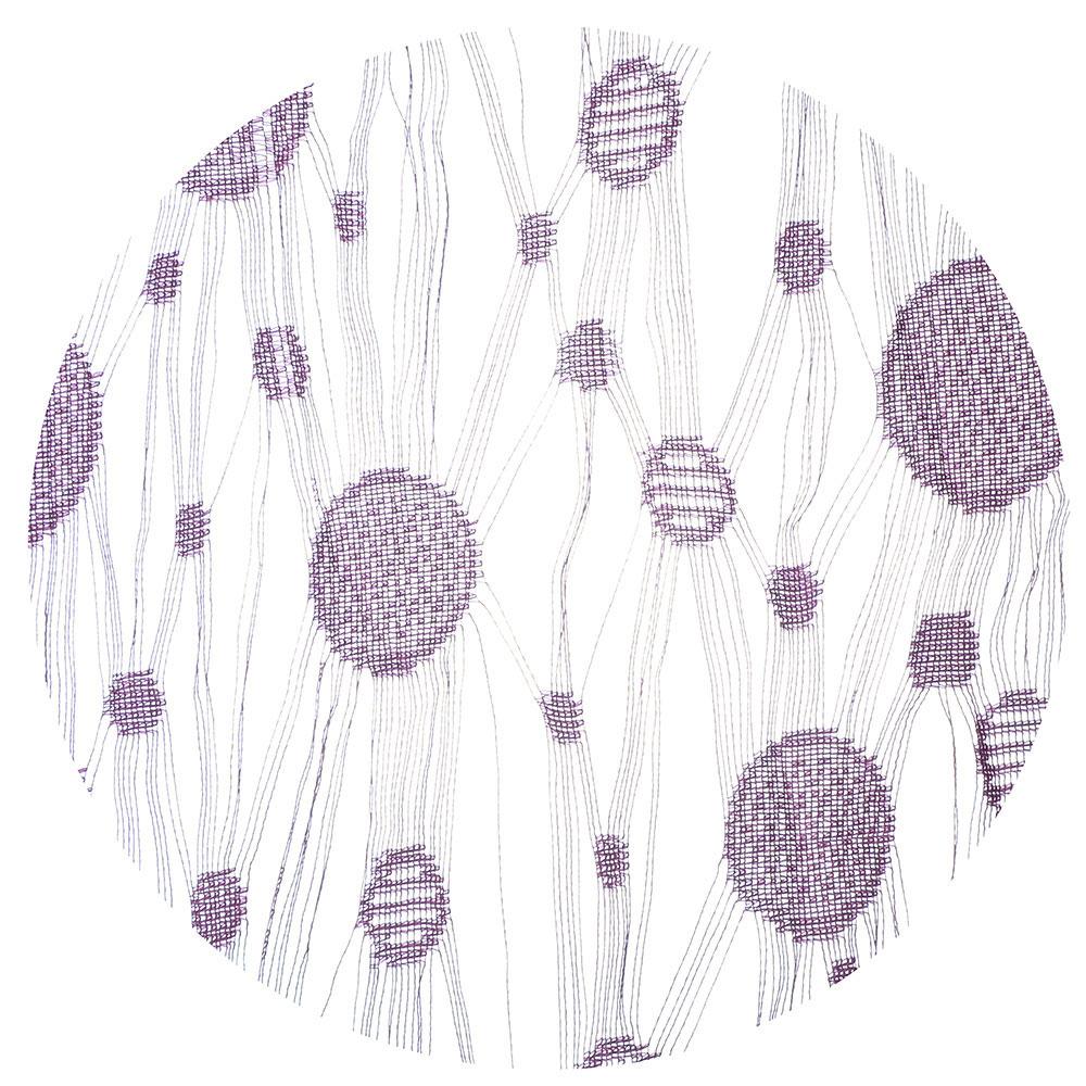 Занавеска нитяная межкомнатная, полиэстер, 1х2м, 5 цветов, «Круги»