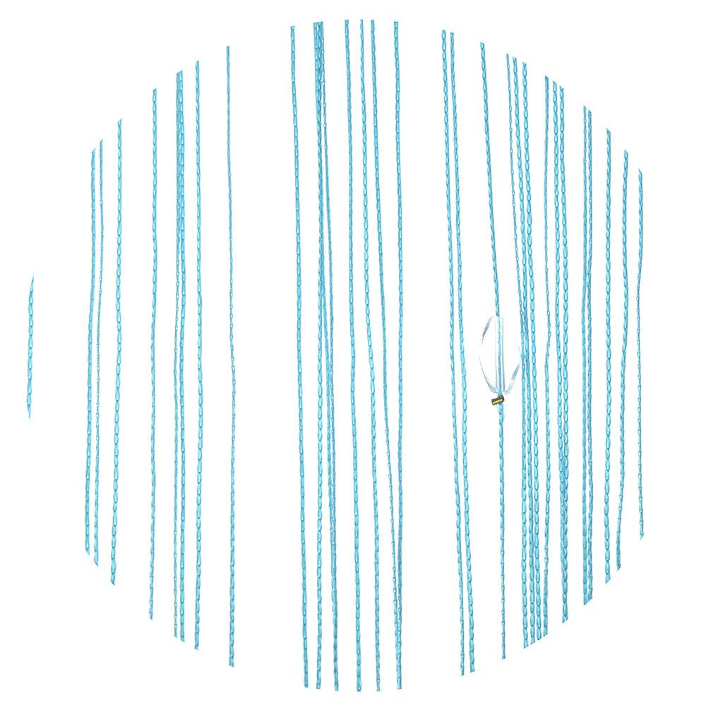 Занавеска нитяная межкомнатная с лентой, полиэстер, 1х2м, 5 цветов,