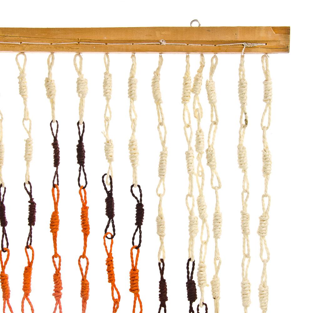 """Занавеска межкомнатная бамбуковая, 90х180см, 3 цвета, """"Спираль"""""""
