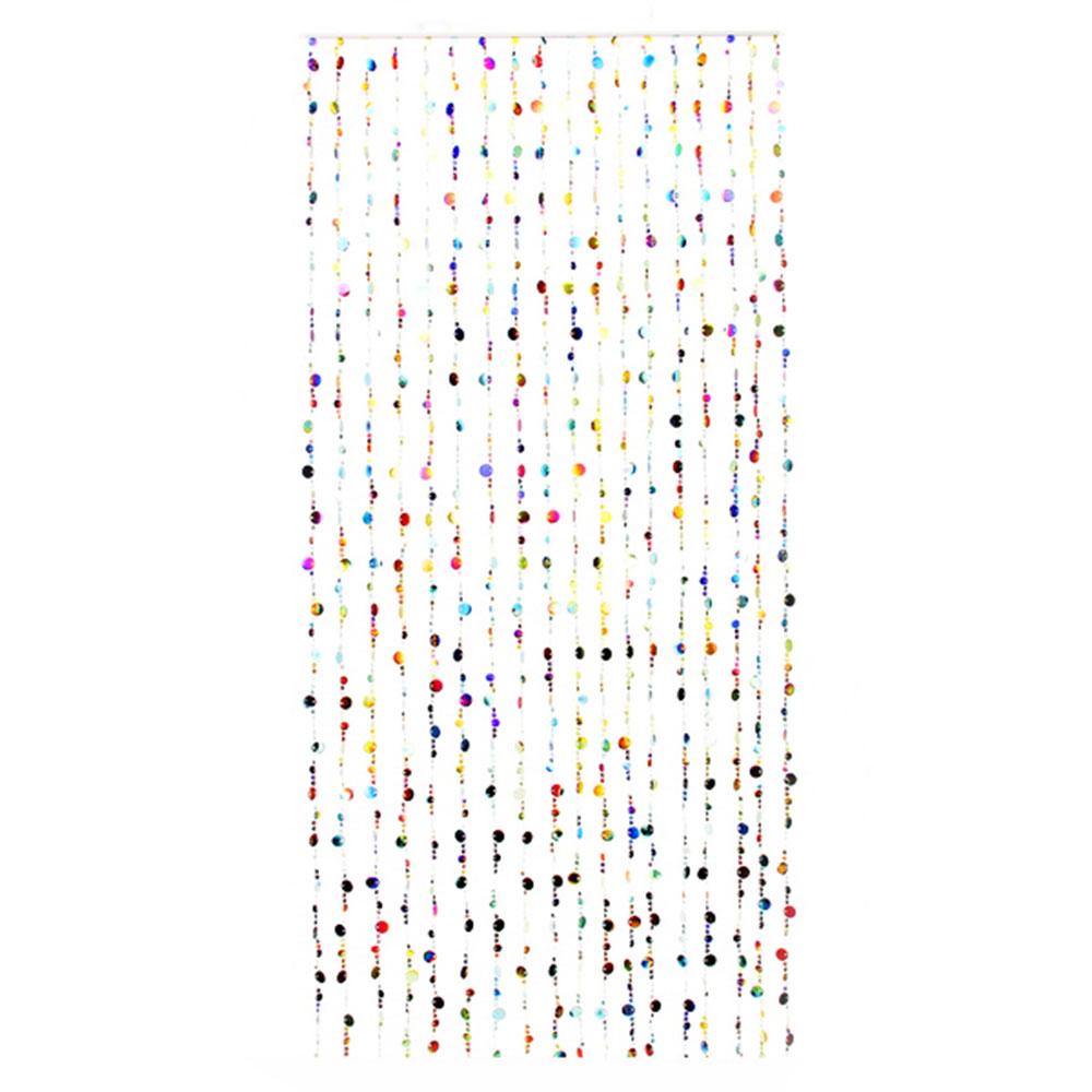 "Занавеска межкомнатная декоративная, пластик, 80x180см ""Монетки"", 2 цвета"