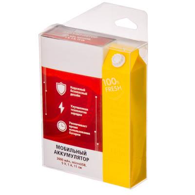 FORZA Аккумулятор мобильный, 2600А, 5V.1A, microUSB, 11см, 3 цвета