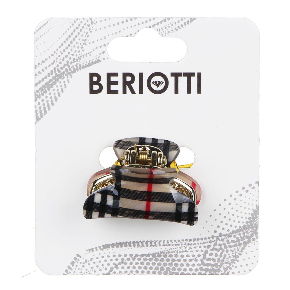 Краб для волос BERIOTTI,  3 см, 2 дизайна