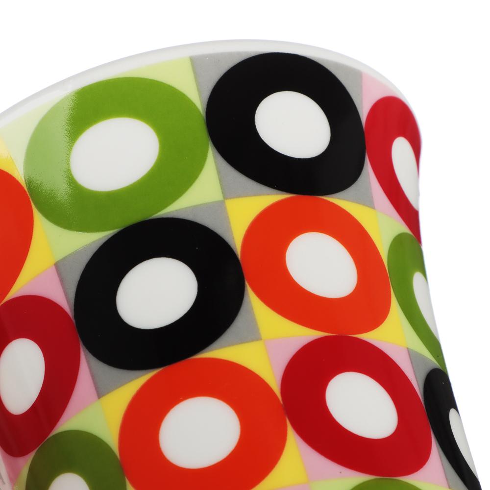 """Кружка фарфоровая 350 мл, 4 цвета, """"Кофе-1"""""""