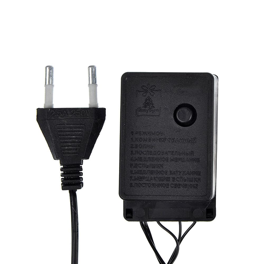 Гирлянда электрическая сетка СНОУ БУМ 144 LED, 1,6x1,6 м, мультицвет, 8 режимов