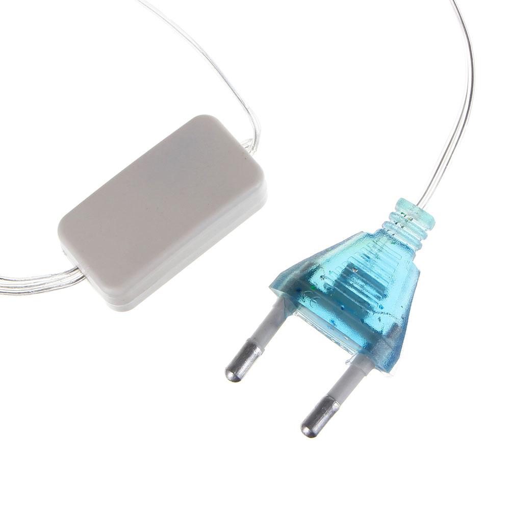 Гирлянда светодиодная Бахрома СНОУ БУМ 2х0,5х0,7 м, 80 LED, Голубой, 220В