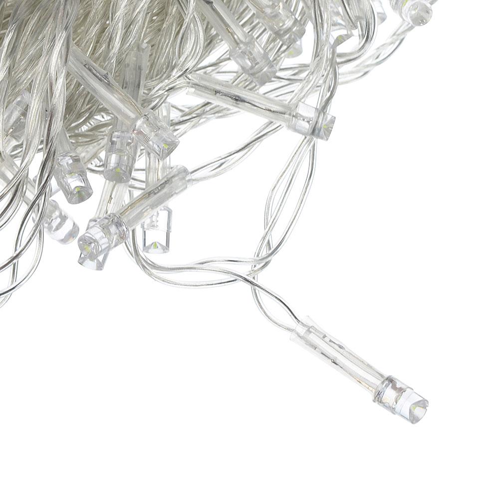 Гирлянда светодиодная Вьюн СНОУ БУМ 14 м, 180 LED, белый, пост. свечение, прозрачный провод, 220В