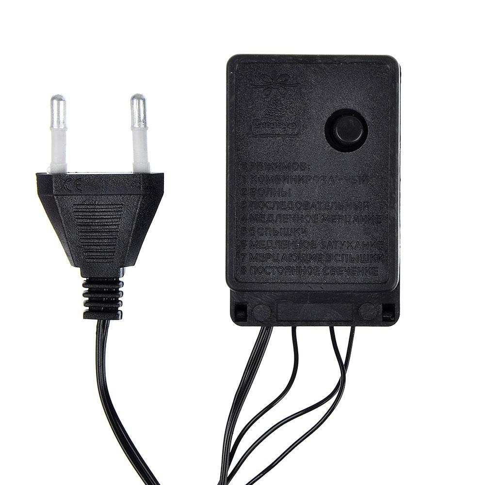 Гирлянда светодиодная Вьюн СНОУ БУМ 14 м, 300 LED, мультицвет, 8 режимов, ПВХ провод, 220В