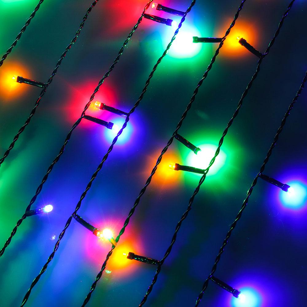 Гирлянда светодиодная Занавес СНОУ БУМ 2x1,5 м, 272 LED, мультицвет, 8 режимов, ПВХ провод, 220В