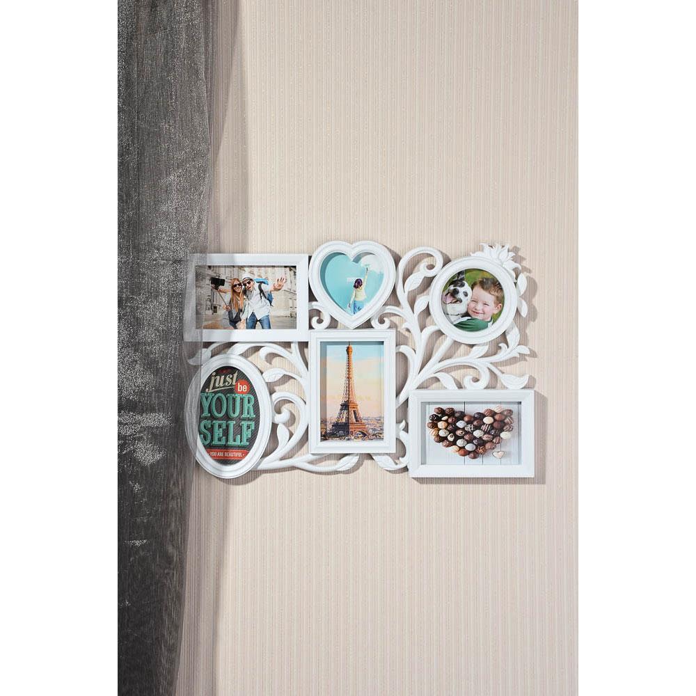 Фоторамка на 6 фотографий, пластик, 48х34см, арт.101-6 Дизайн GC