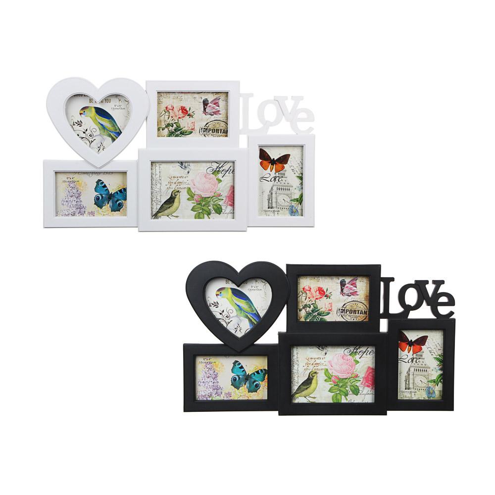 Фоторамка на 5 фотографий, пластик, 53х31см, арт.101-8 Дизайн GC