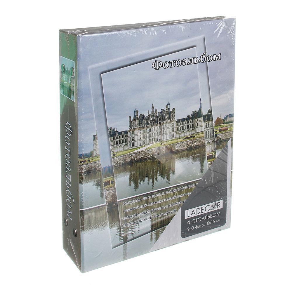 Фотоальбом на 200 фото 10х15см, 17,5х23см, бумага, пластик, 4 дизайна, арт.15-01