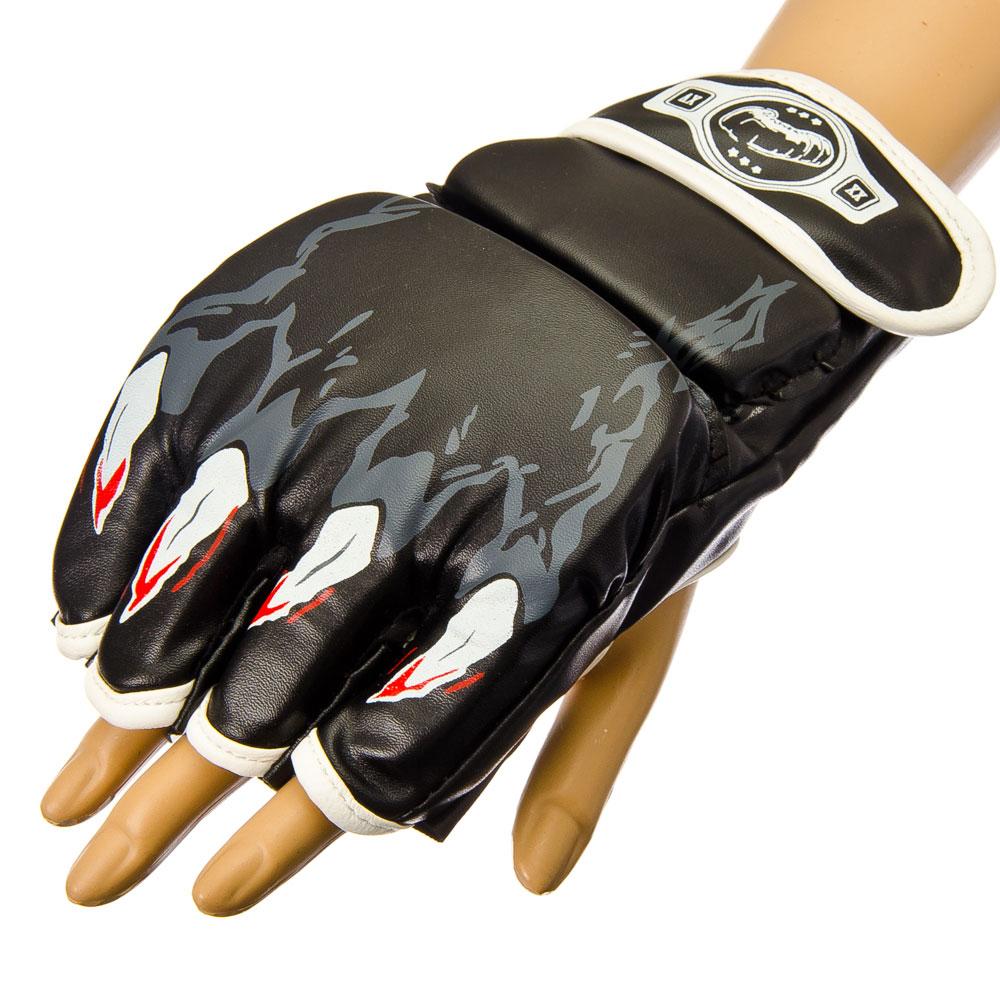 Перчатки MMA, поролон, искусственная кожа, 11,5x19 см, SILAPRO