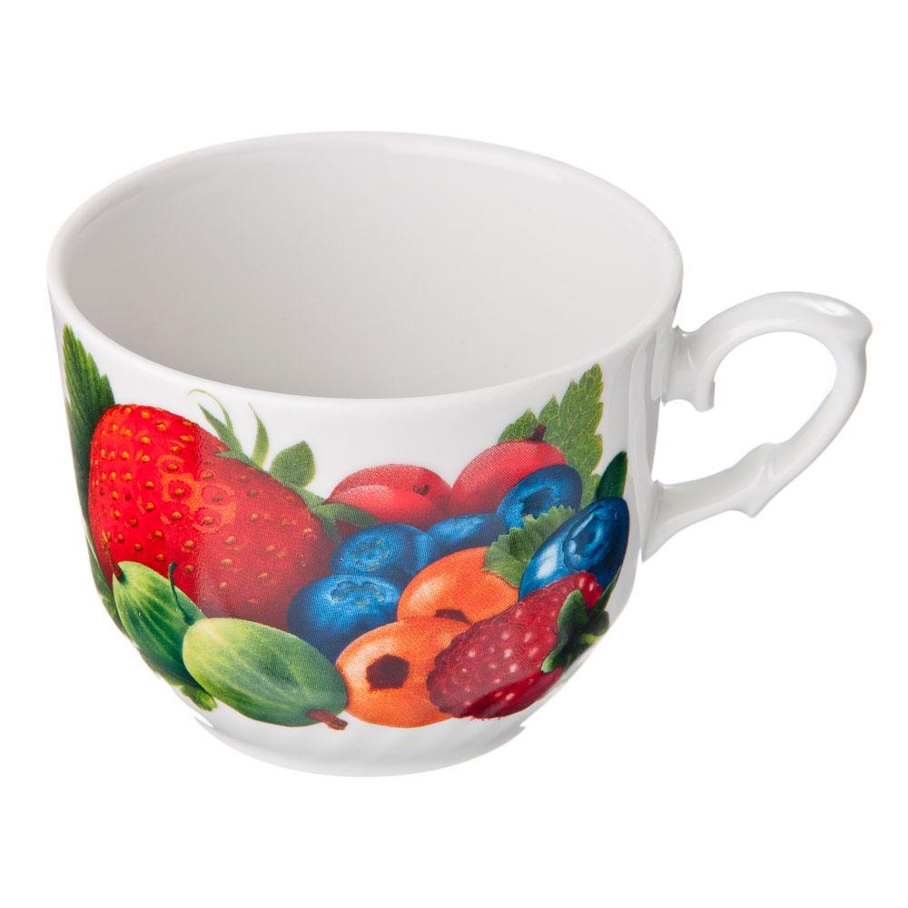 Чашка 250мл фаянс, 10 дизайнов, ф397/ф272