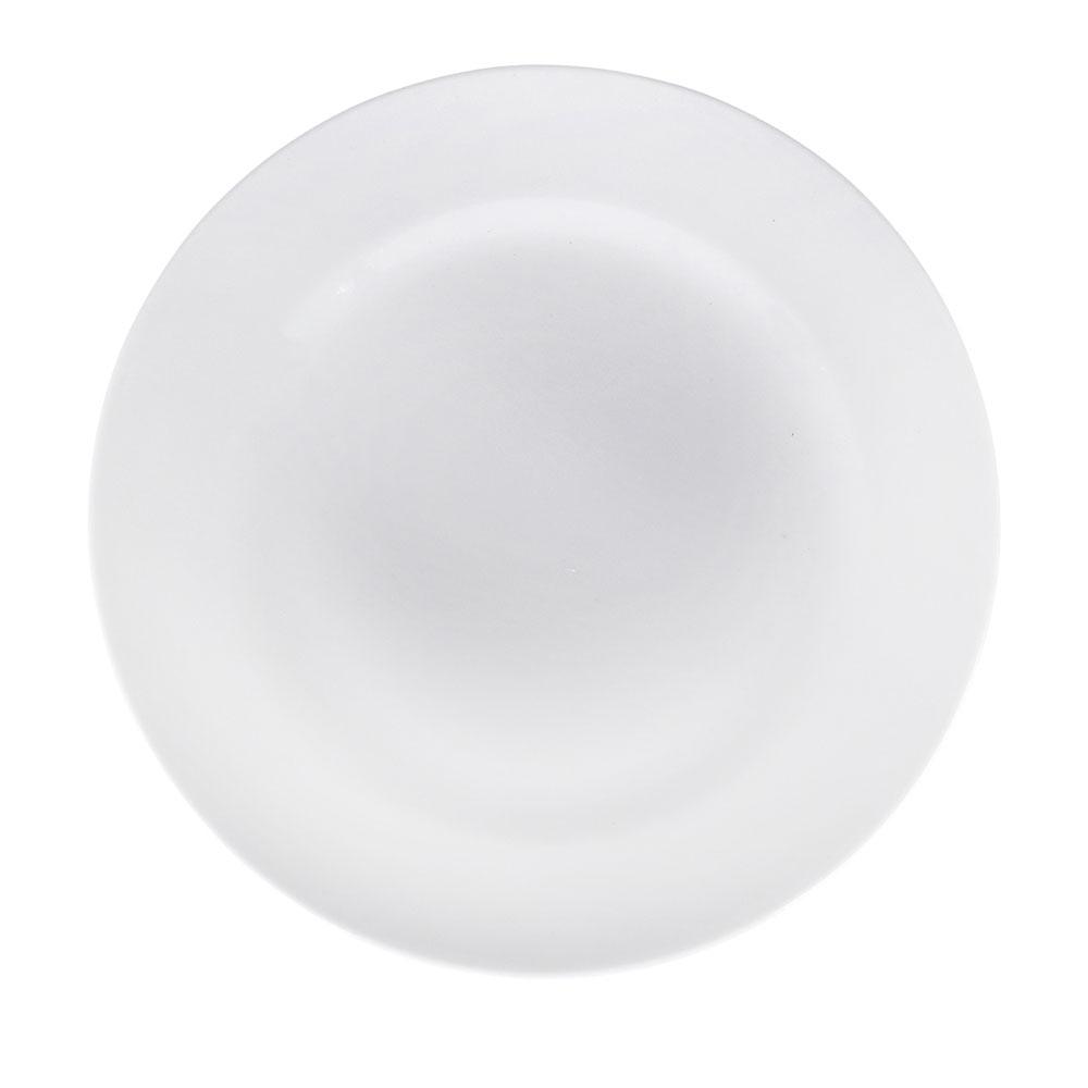 Тарелка мелкая без рисунка белая 175 мм, фарфор