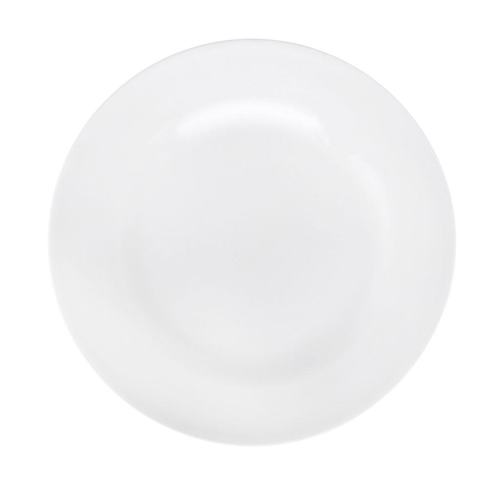 Без рисунка Тарелка мелкая 200 мм, белый, фарфор
