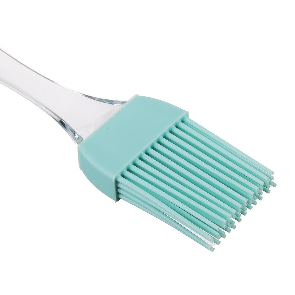 Набор для выпечки 2 предмета: кисточка, лопатка, силикон, 3 цвета