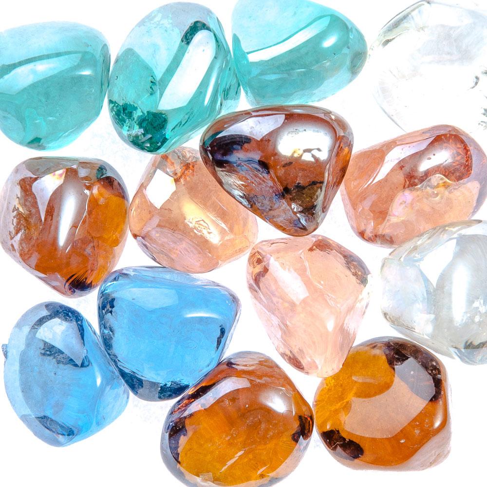 Камни декоративные, стекло, 200 гр., арт.9914