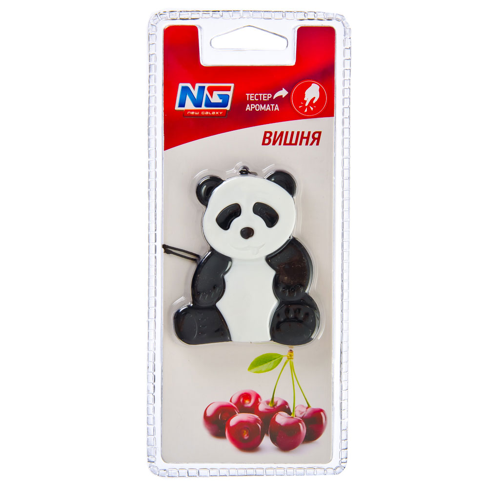 "Ароматизатор в машину, аромат вишня, гелевая игрушка ""Панда"", NEW GALAXY"