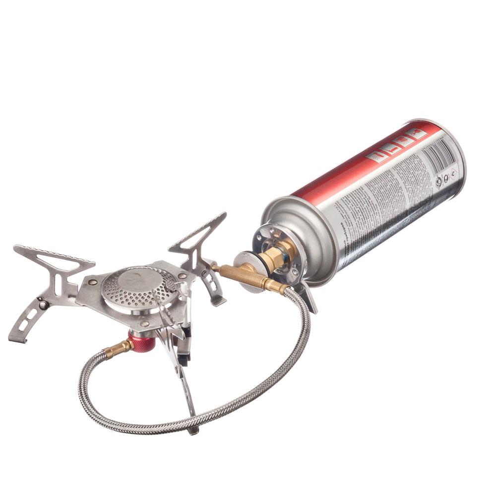 ЧИНГИСХАН Плитка складная газовая с удлинителем, нерж.сталь, 15х15х8см, 3,5кВт KL-S4