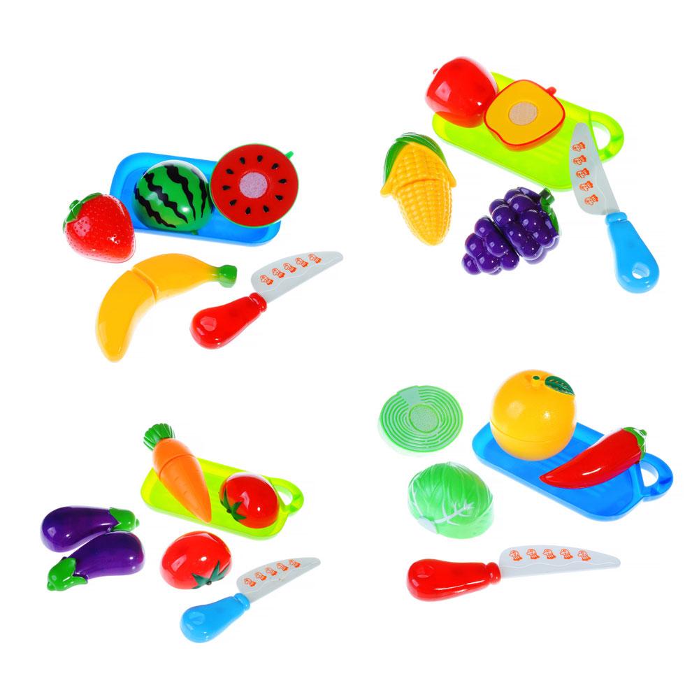 МЕШОК ПОДАРКОВ Набор продуктов для резки с доской и ножом, пластик, 16х13х5см, 4 дизайна, 100989693
