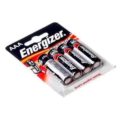 Элемент питания 4 шт в уп. Energizer Power E91 палец, алкалиновые, 300132900