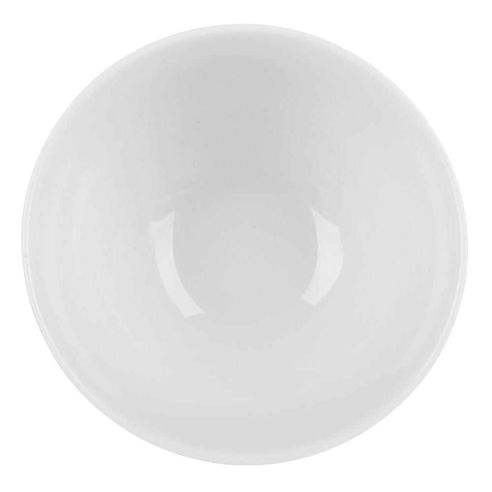 Пиала без рисунка белая 370 мл, фарфор